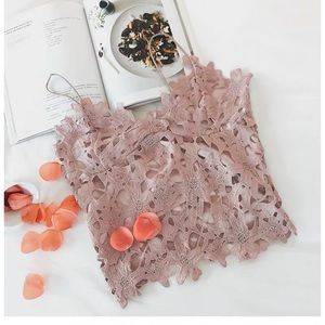 NWOT Pink Lace Camisole